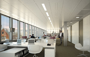 One on One offers stylish and practical office space with maximum use of daylight