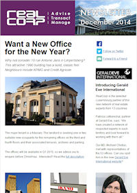 RealCorp Luxembourg Newsletter December 2014 Cover