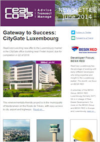 RealCorp Luxembourg Newsletter June 2014 Cover