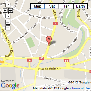 Google Map showing location of Aire Building in Luxembourg