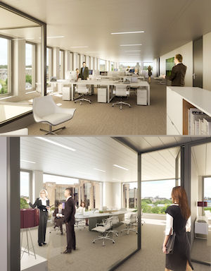 Internal Views of Aire Building by ALLFIN Lux Marketed by RealCorp Luxembourg