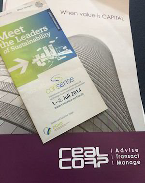 Consense 2014 Agenda with RealCorp Luxembourg company brochure