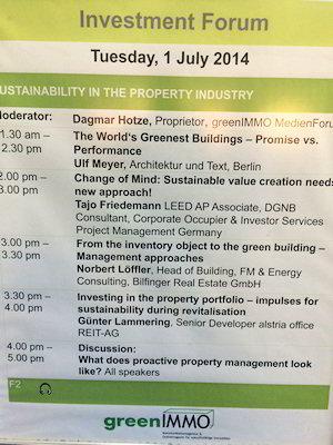 DGNB Consense 2014 Investment Forum Agenda