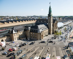 Luxembourg Gare and bus terminus