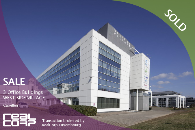 RealCorp Luxembourg — SOLD: Investment 3 Office Buildings — WEST SIDE VILLAGE, Capellen. Transaction brokered by RealCorp Luxembourg