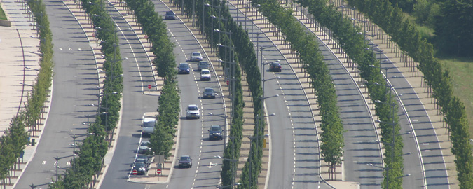 Multilane highways separated by treed islands represent the many routes we take in providing our search and selection services