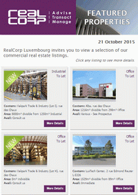 RealCorp Luxembourg Newsletter October 2015