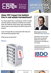 RealCorp Luxembourg Newsletter January 2014 Cover
