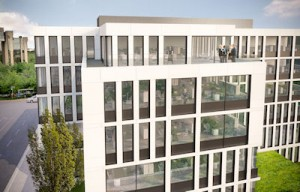 Aire Building Luxembourg  External View with Terrace