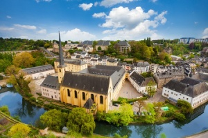 Luxembourg's beautiful old buildings, such as this Abbey, give a special settled character to the city. There is a wide range of modern as well as period property available to lease or own.