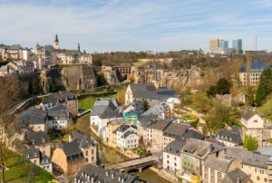 Luxembourg medieval buildings