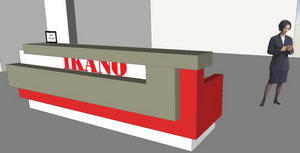 Ikano Reception Furniture Sketch