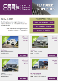 RealCorp Newsletter 27 March 2019