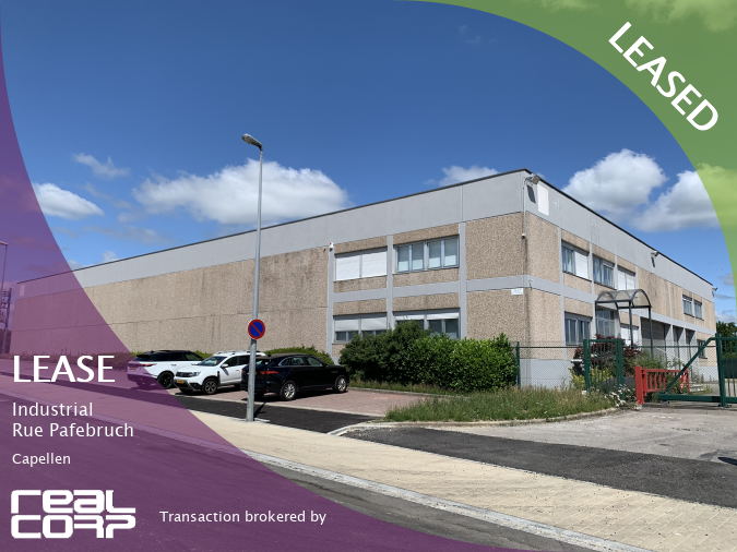 RealCorp Luxembourg — LEASED: Lease Industrial — Rue Pafebruch, CapellenTransaction brokered by