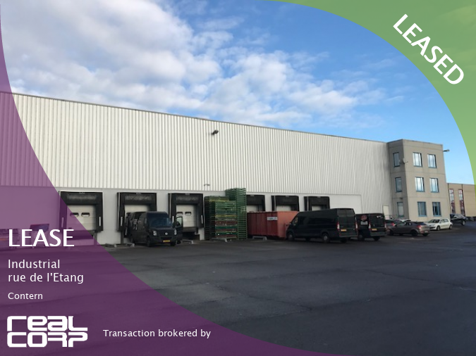 RealCorp Luxembourg — LEASED: Lease Saturne Technology moves into rue de l'Etang, Contern. RealCorp Luxembourg brokered this transaction