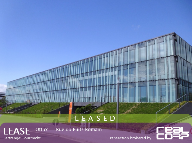 RealCorp Luxembourg — LEASED: Lease Office — Atrium Business Park, Rue du Puits Romain, Bertrange: Bourmicht