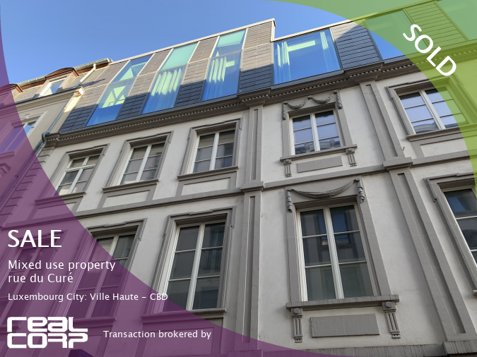 RealCorp Luxembourg — SOLD: Sale Mixed-use property — rue du Curé, Luxembourg City: Ville Haute - CBDTransaction brokered by